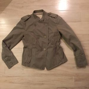 Banana Republic Gray Double Breasted Jacket 0P
