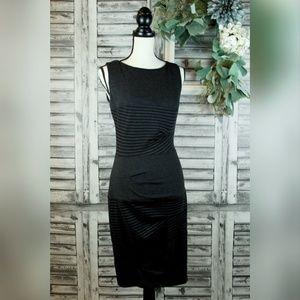 NICOLE MILLER side zip gray black dress size S