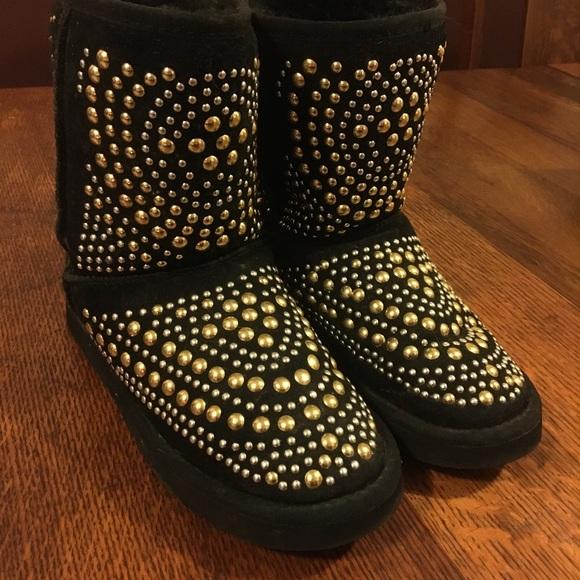 7894cb37e656 Ugg by Jimmy Choo Mandah Studded Boots size 8. M 59ddc4bd620ff7b11b015d7c