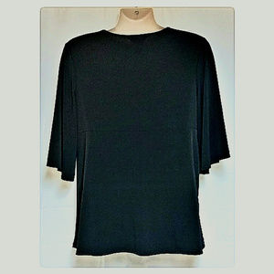 George Tops - Flowy Black Top Butterfly Sleeves Size 16/18 XL
