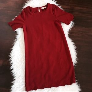 Anthropologie Monteau Red Shift Dress Small