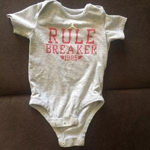 Air Jordan Rule Breaker Baby Onesie