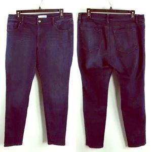 Ann Taylor LOFT Blue Denim 5-Pocket Skinny Jeans