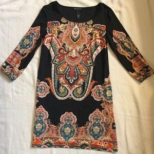 Black printed dress INC International Concepts