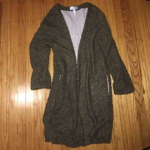 Cozy olive color long sweater