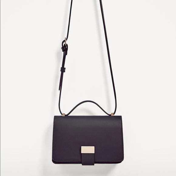 Zara Handbags - Zara navy blue two tone crossbody bag