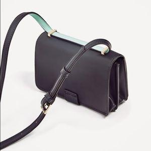 Zara Bags - Zara navy blue two tone crossbody bag