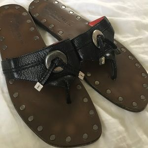 YSL wood sandals
