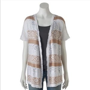 NEW Cloud Chaser open knit cardigan, Juniors, S