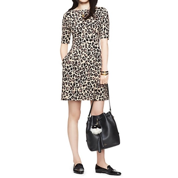9c556b700ddf kate spade Dresses & Skirts - Kate Spade 3/4 Sleeve Leopard Dress