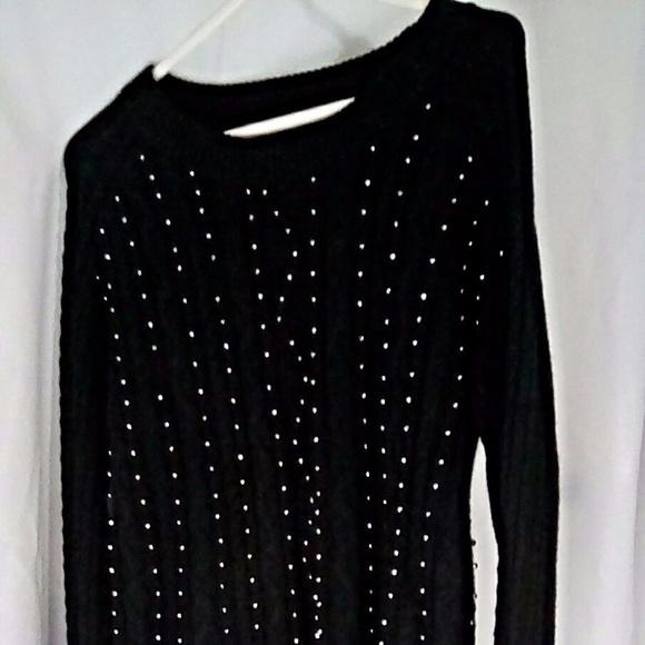 Sweaters - Brixon Ivy Sweater Women's Sz L Black Petey Beaded