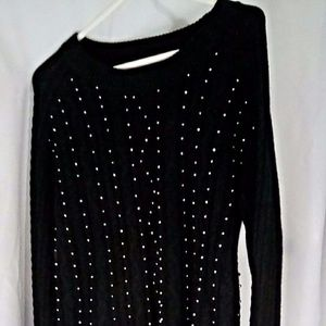 Sweaters - Brixon Ivy Sweater Women's Sz L Black Petey Beaded