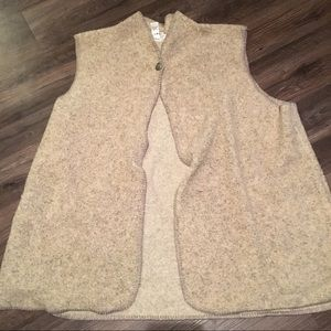 Coldwater Creek shearling Vest