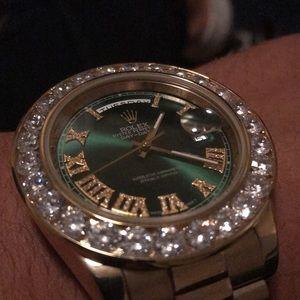 Green Face Custom Rolex