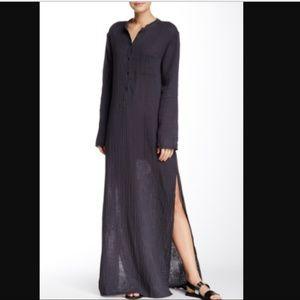 Michael Stars Full Length Black Cotton Dress NWOT