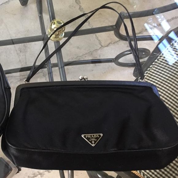 01ec4aac8550 Prada Bags | Authentic Silk Leather Evening Bag Dust Bag | Poshmark