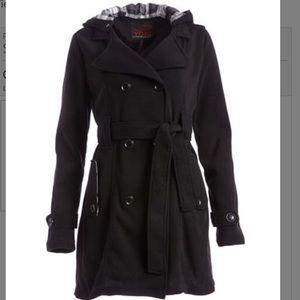 Yoki Double Breasted Fleece Coat NWT  - Size Large