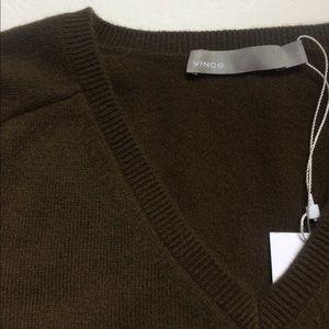 Vince 100% Cashmere V Neck Sweater