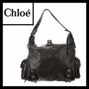 Chloe Black Silverado Large Hobo Bag