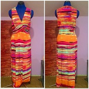 Mlle Gabrielle Rainbow Maxi Dress