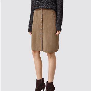 All Saints light brown Emma skirt sz 2