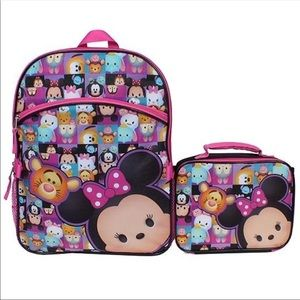 Disney Tsum Tsum Minnie Backpack and Lunch Box Set
