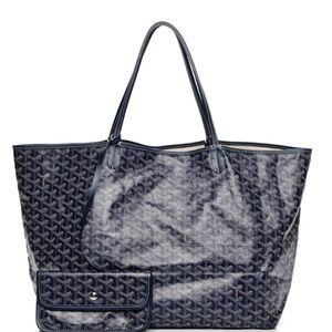 Goyard Navy Blue PM tote