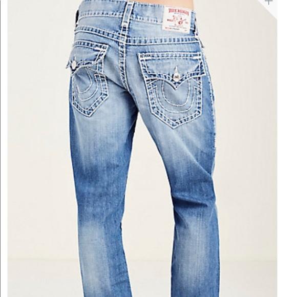 f0a3bd28e True religion STRAIGHT FLAP NATURAL SUPER T Jeans