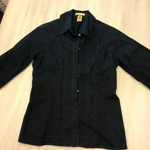 Catherine Malandrino poplin blouse petite 2/4