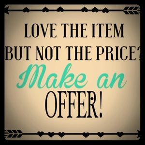 Other - Make me an offer I can't refuse!!❤️