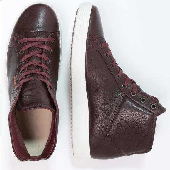 6e1e90f8d08d7 Ecco Shoes - Bordeaux SOFT 7 HIGH TOP euro 39 size