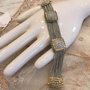Jewelry - Silky Chain Bracelet With Pave