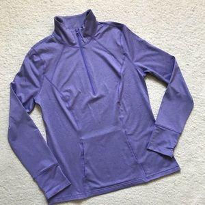 Z by Zella Half Zip Athletic Shirt Lavender