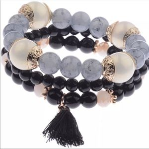 Jewelry - Boho gem bead bracelet set