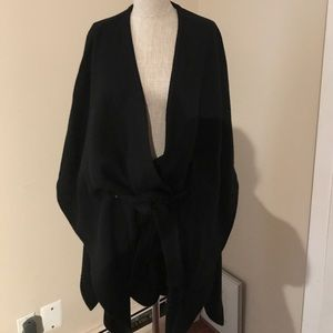 Cape with a belt