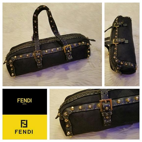Fendi Handbags -  1200 FENDI Selleria Studded East West Bag 918602b31cb1f