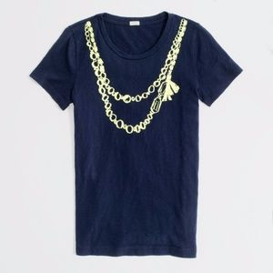 J. Crew Factory Necklace Graphic Tee Size XL