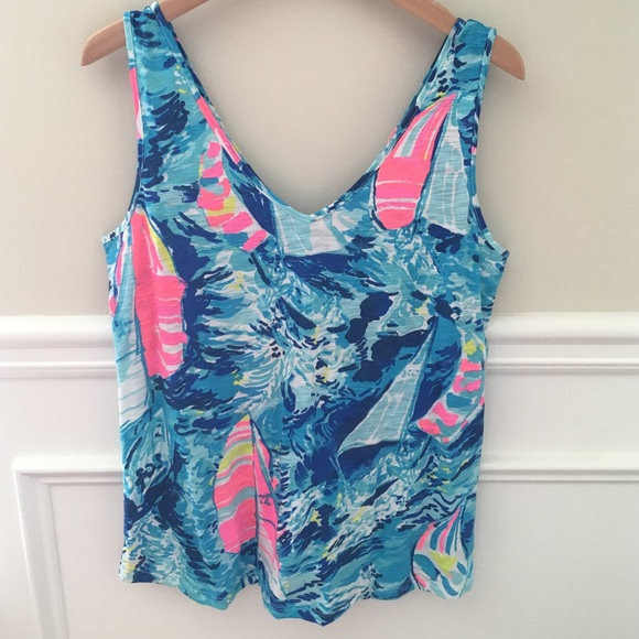 9c63b120c1 Lilly Pulitzer Tops | Nwt Gigi Top In Hey Bay Bay Reduced | Poshmark