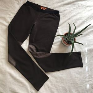 TORY BURCH women's Leather Trim Leggings / Pants S
