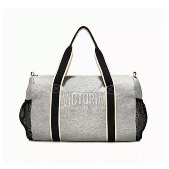 overnight bag velvet grey zipper VICTORIA/'S SECRET Duffle Sport Pink Tote Bag