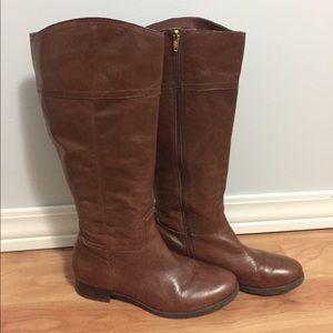 c12d7c4e375 Audrey Brooke Leather Tayler Wide Calf Boots