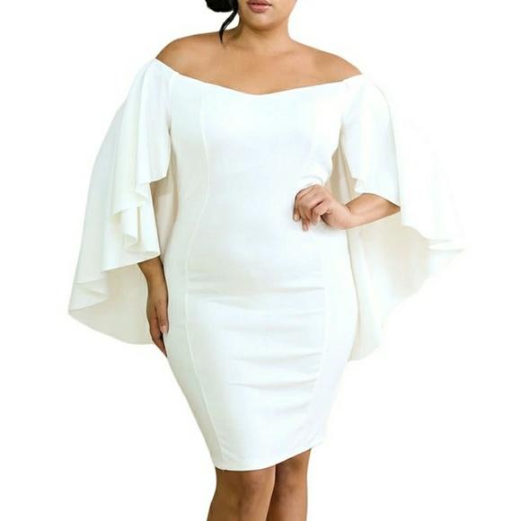 Dresses Plus Size Sexy Curvy White Dress Poshmark