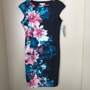 London Times Floral Dress 8 NWT