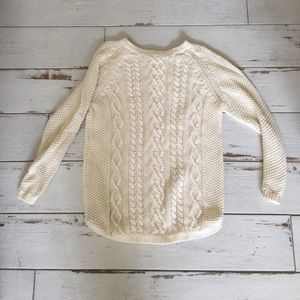 Creme knit Cynthia rowley sweater