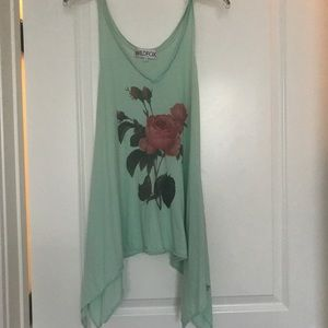 Wild fox rose tank sz xs