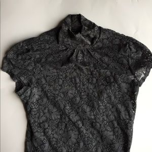 Size small gray express Lace top