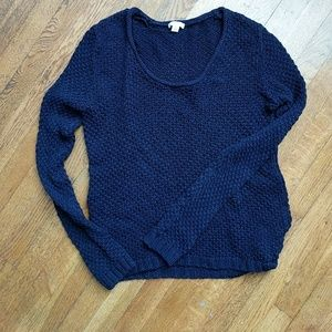 Gap cable knit navy sweater
