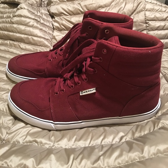 Airwalk Shoes - High Top Burgundy Sneaker (size 13) 247704734