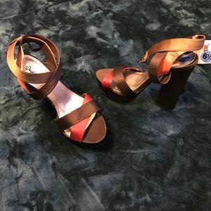 Strappy Platform Heels- Never been worn!
