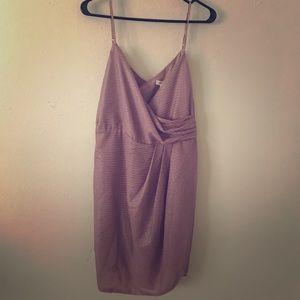 BNWT Light pink/purple rose colored women's dress